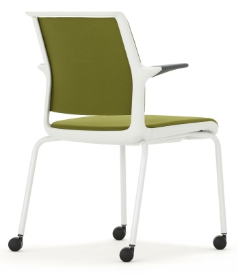Mobile Arm Chair Fully Upholstered Rear View