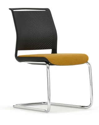Conference Chair With An Upholstered Seat And A Cantilever Frame