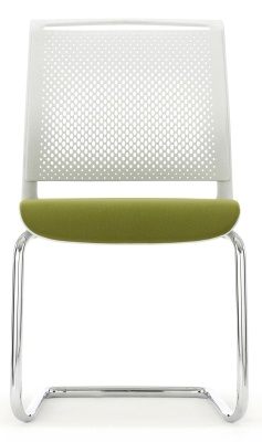 Ad Lib Conference Chair Front Face With An Upholstered Seat