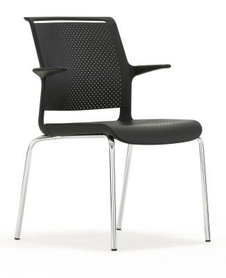 Ad Lib Conference Chair With Arms Front Angle