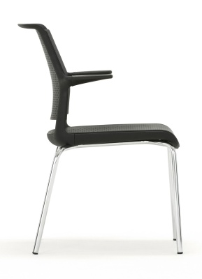 Ad Lib Conference Chair With Arms Side View