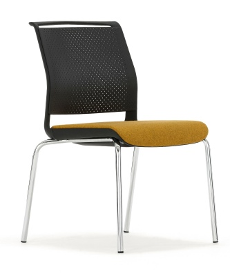 Ad Lib Chair With An Upholstered Seat Front Angle