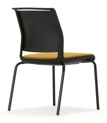 Ad Lib Chair With Four Legs And An Upholstered Seat Rear View