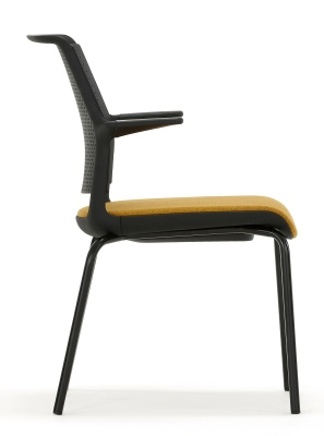Ad Lib Conference Arm Chair With An Upholstered Seat Side Shot