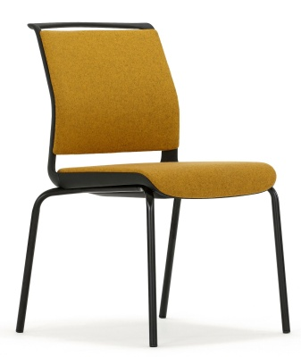 Ad Lib Conference Chair Fully Upholstered Front Angle