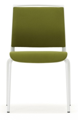 Ad Lib Conference Chair Without Arms Fully Upholstered Front View