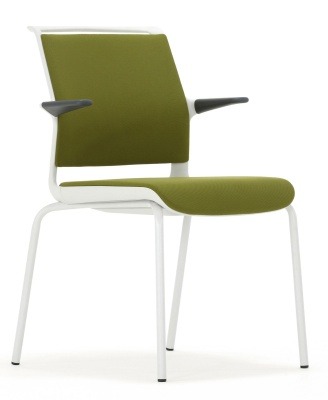 Ad Lib Conference Arm Chair With A Light Grey Frame With Arms