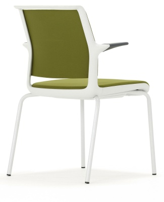 Ad Lib Conference Garm Chair With A Light Grey Frame Rear Angle Shot