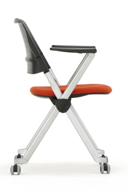 Pyramid Chair With Castors Side View