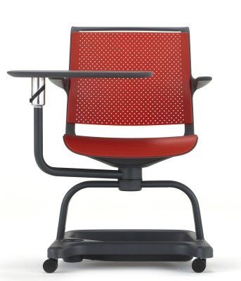 Adlib Scholar Chair In Red With Tablet Front View