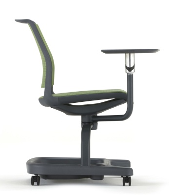 Adlib Chair In Green Shown From The Side