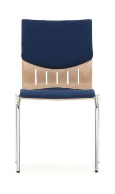 Isis Chair With An Upholstered Seat And Back Facing