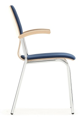 Isis Upholstered Seat And Back Witha Chrome Frame