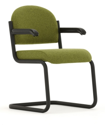 Titus Cantilver Meeting Arm Chair Front Angle View