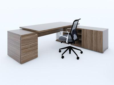 Mito Executive Desk Pedestal And Side Credenza Unit