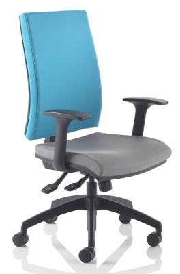 Track Task Chair Two Tone Fabric