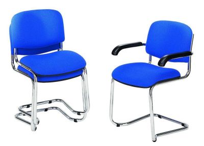 Strador Blue Chairs, Stack Of Two And One With Armrests