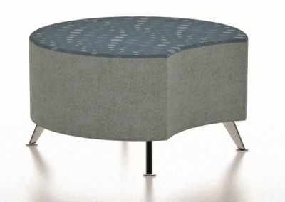 Bondai Large Circular Stool With Legs And A Single Cut Out