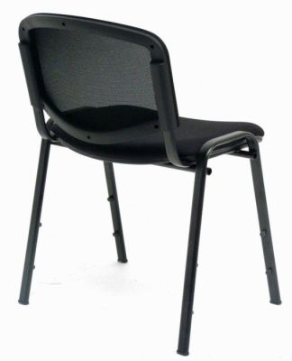 CP Mesh Backed Stackable Conference Chair In Black