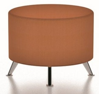 Bondai Round Stool With Chrome Angular Feet