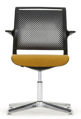 Ad Lib Designer Conference Chair With An Upholstered Seat Front Facing