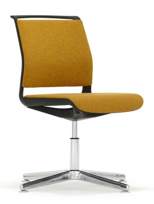 Ad Lib Four Star Upholstered Conference Chair Front Angle Shot
