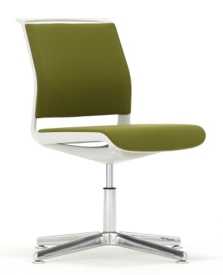 Ad Lib Four Star Conference Chair Fully Upholstered Front Angle