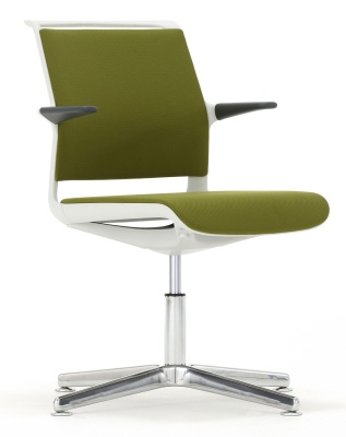 Ad Lib Designer Conference Arm Chair With A Four Star Base