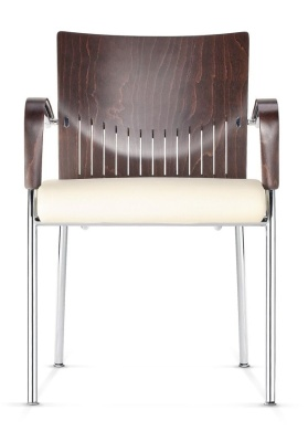 Castella Designer Conference Chair With An Upholstered Seat Front View