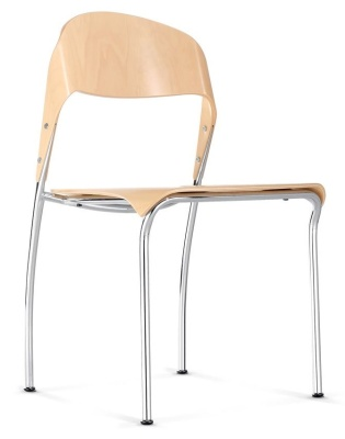 Medura Plywood Conference Chair Natural Finish