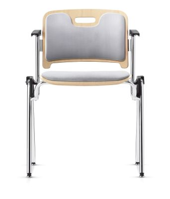 Stato Chair With Upholstered Seat And Back