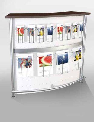 Genua Plus V4 Reception Desk With Leaflet Holders