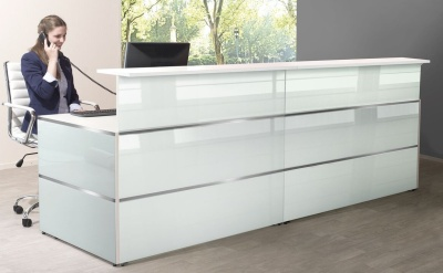 Atlanta Straight Glass Reception Desk