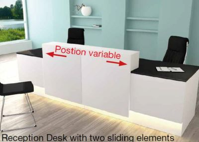 Cadiz Reception Desk With Sliding Counter Tops