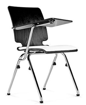 Axo Chair With A Writing Tablet And Upholstered Seat