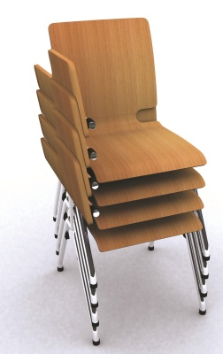 Axo Chair With Writing Tablet Stacked