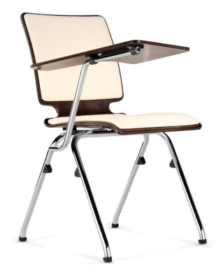 Axo Chair With Writing Tablet Upholstered Seat And Back
