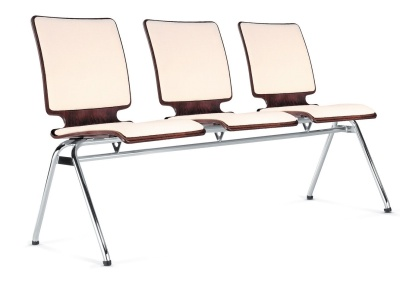 Axo Three Seater Beam With An Upholstered Seat And Back