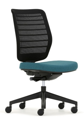 Fuse Chair Black Mesh Front Angle Shot
