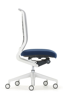 Evolve Task Chair Light Grey Components Side View