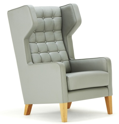 Grainger Wingback Chair Front Angle