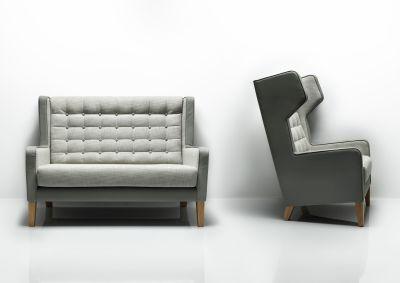 Grainger Luxury Wing Back Sofas Mood Shot