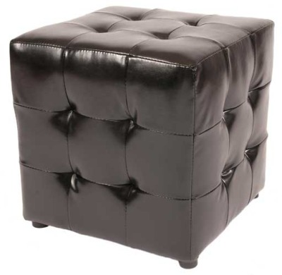 Quilted Brown Leather Cube