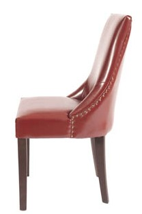Rockwell Leather Dining Chair Side