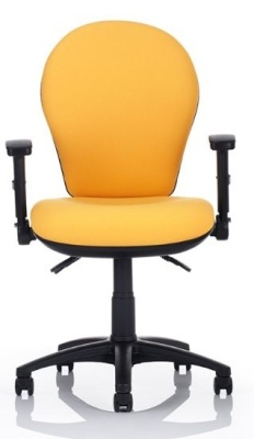 Bulbo Operators Chair Front Facing Shown With Height Adjustable Arms