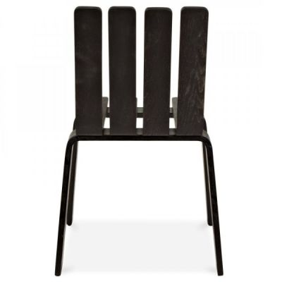 Fence Wooden Outdoor Chair Facing
