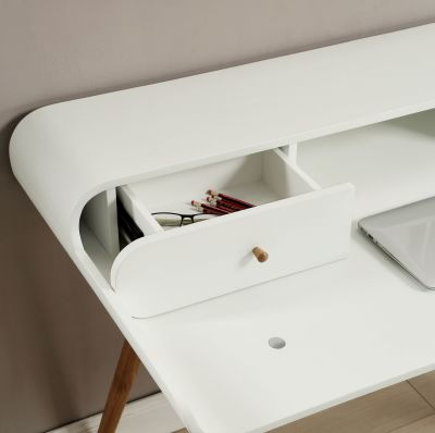 Memo Laptop Desk In White Detail Shot