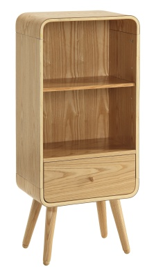Memo Designer Short Bookcase In Ash