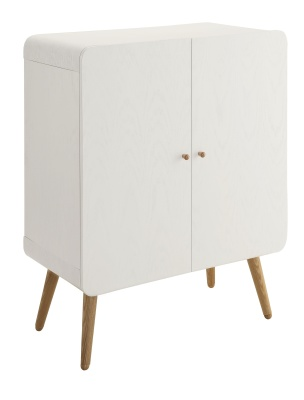 Memo White Ash Storage Cupboard