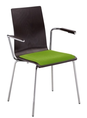 Piazza 7 Cafe Arm Chair With An Upholstered Seat